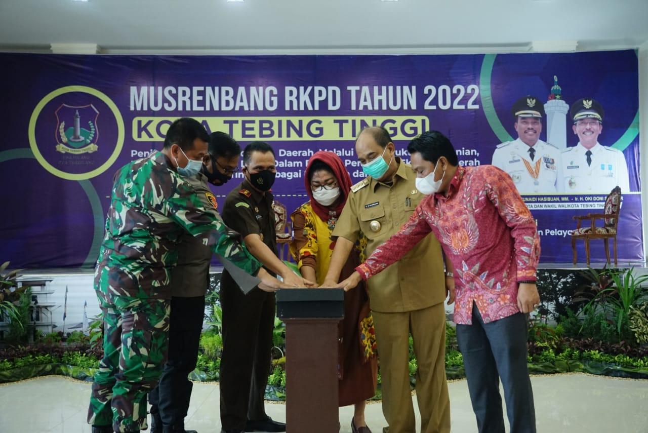 Pemko Tebingtinggi Gelar Musrenbang RKPD Tahun 2022, Prioritaskan  Program Strategis Nasional Penanganan Covid-19 dan Pemulihan Ekonomi