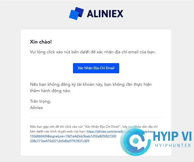 Hướng dẫn đăng kí Aliniex