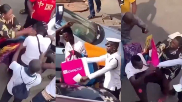 Watch the Moment a Woman slapped a Pickpocket Thief who tired to steal from her bag (Video)