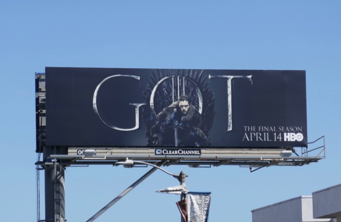 Game of Thrones final season Jon Snow billboard