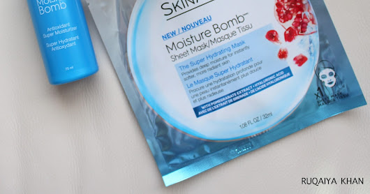 GARNIER SkinActive Moisture Bomb Review - Mask, Antioxidant Super Moisturizer Lotion and Gel-Cream - Review and Swatches