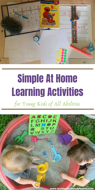 Simple At Home Learning Activities for Young Kids of All Abilities