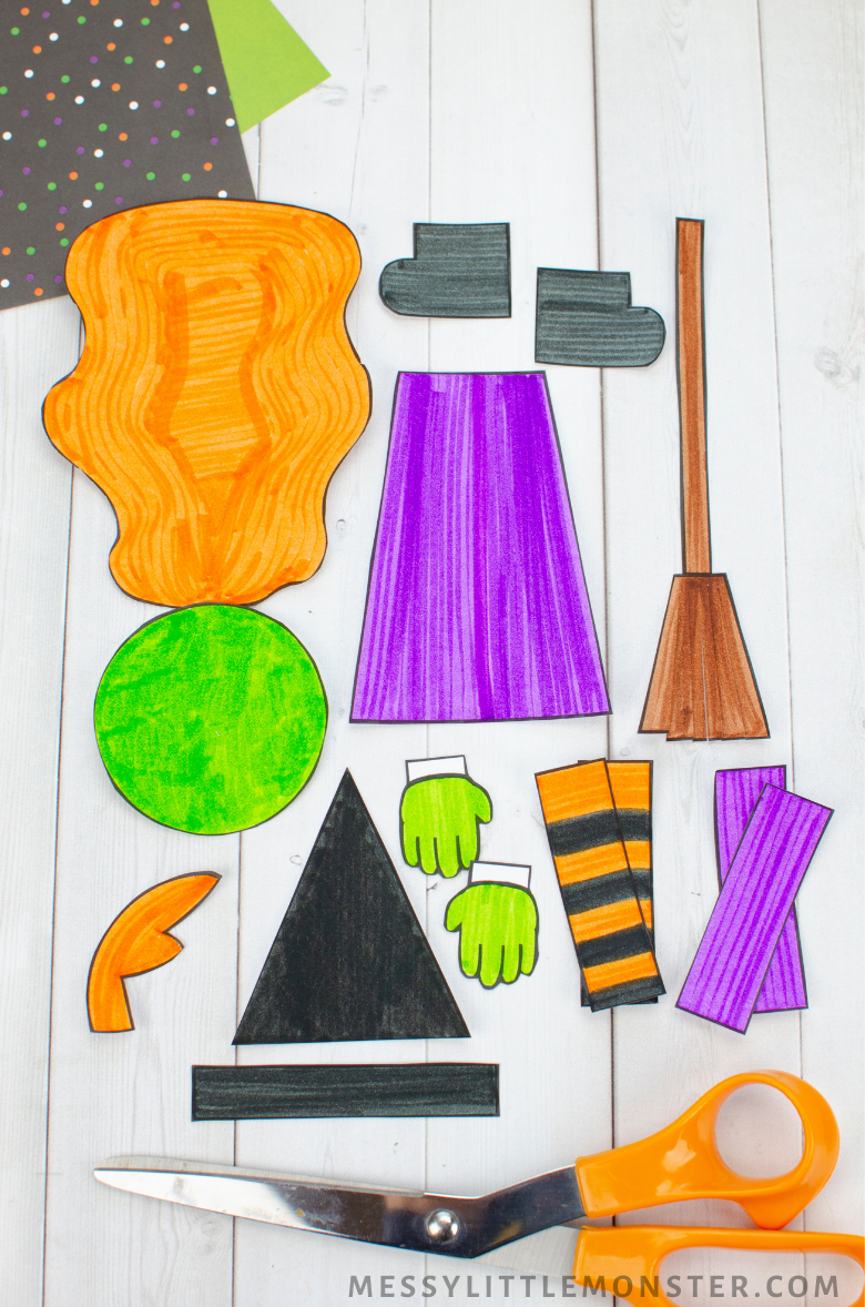 Halloween mix and match paper crafts for kids