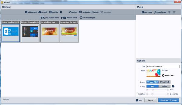 Cách sử dụng Proshow Gold 9 trên máy tính windows để làm video từ ảnh, nhạc e