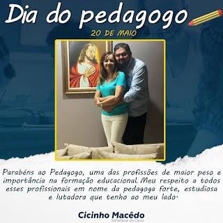 CICINHO MACÊDO - PARABÉNS A TODOS OS NOSSO PEDAGOGOS