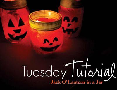 Jack O'Lantern Jar Candles