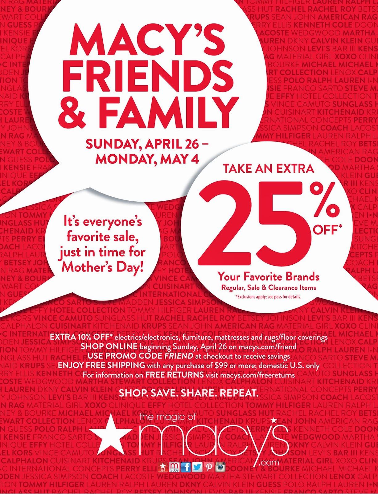 0187a64f3 Fashion Herald: Macy's Herald Square's Friends & Family: Shop Pre ...
