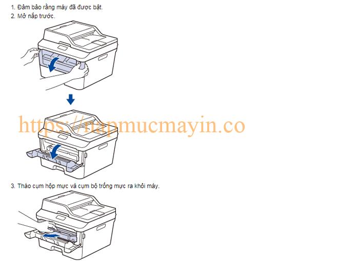 Sửa lỗi Replace Drum ở máy in Brother MFC L2701D dễ dàng.