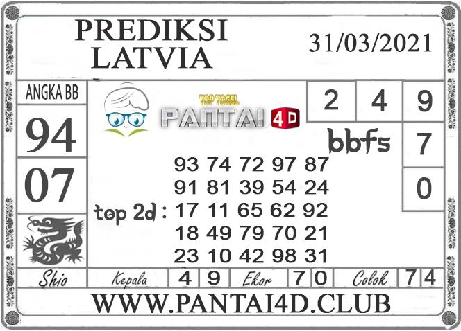 PREDIKSI TOGEL LATVIA PANTAI4D 31 MARET 2021