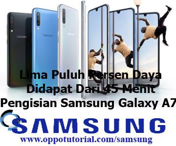 Lima Puluh Persen Daya Didapat Dari 45 Menit Pengisian Samsung Galaxy A70