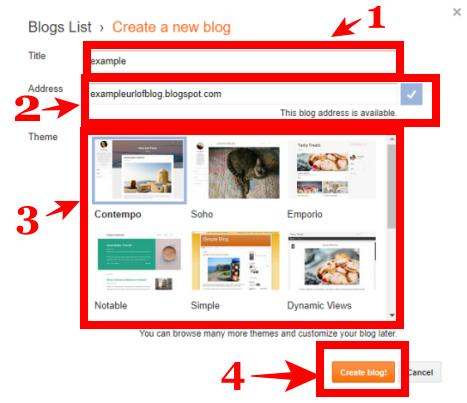 create a free blog on blogger.com