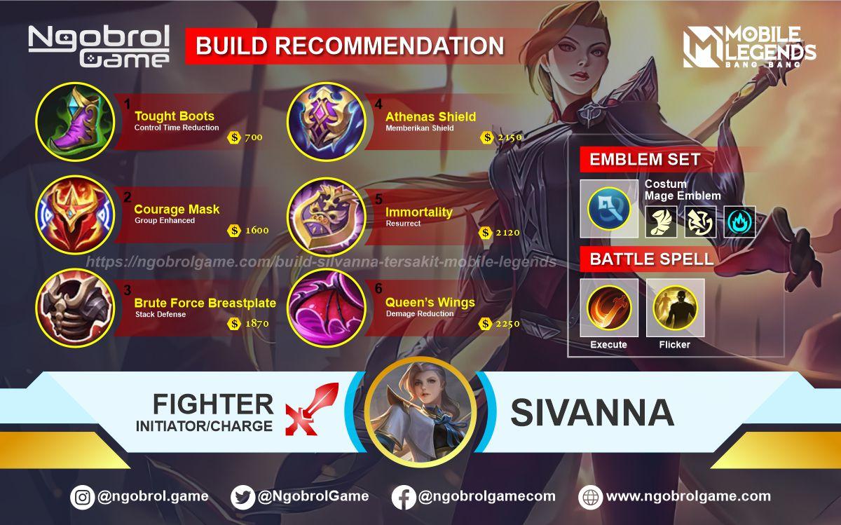 Build Silvanna Tersakit 2021 Mobile Legends