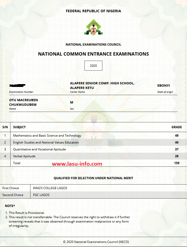 NECO NCEE: Common Entrance Result Checker 2020/2021 [PHOTOS]