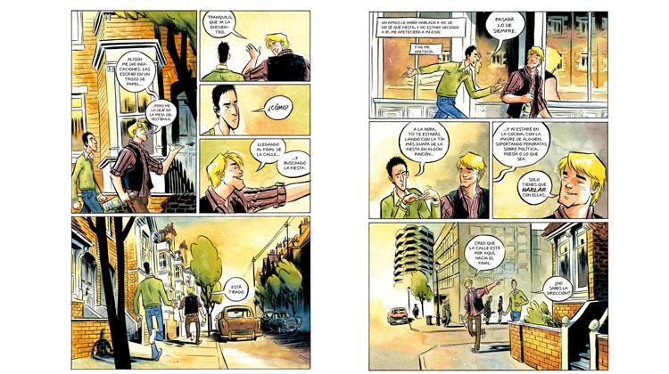 Páginas del cómic 'Como hablar con chicas en fiestas', de Neil Gaiman