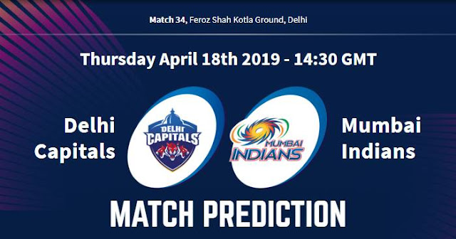 VIVO IPL 2019 Match 34 DC vs MI Match Prediction, Probable Playing XI Who Will Win