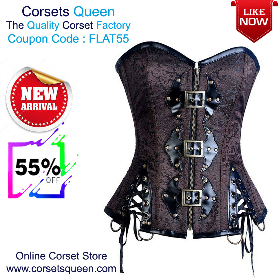7ad436465ff New Designer Corset Sale - Flat 55% OFF Juve Black Steampunk Overbust Corset  with Jacket and Belt USA- https   tinyurl.com yd65jt56