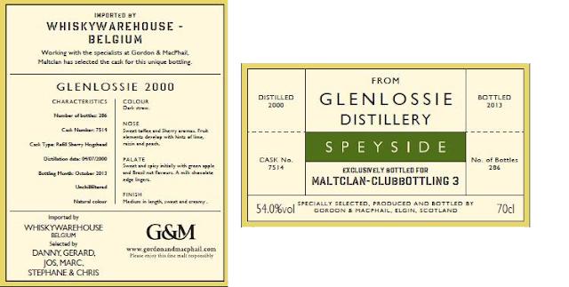 Gordon & Macphail Reserve Glenlossie 2000 for Maltclan