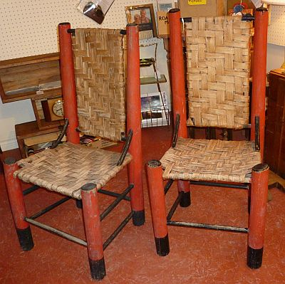 Antiques On Kent: -SOLD- Pair of Rustic Handmade Chairs ...