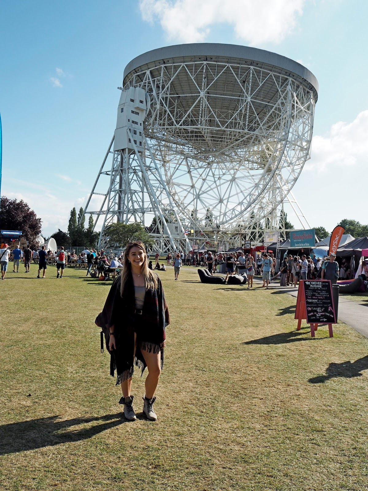 Girl at Jodrell Bank