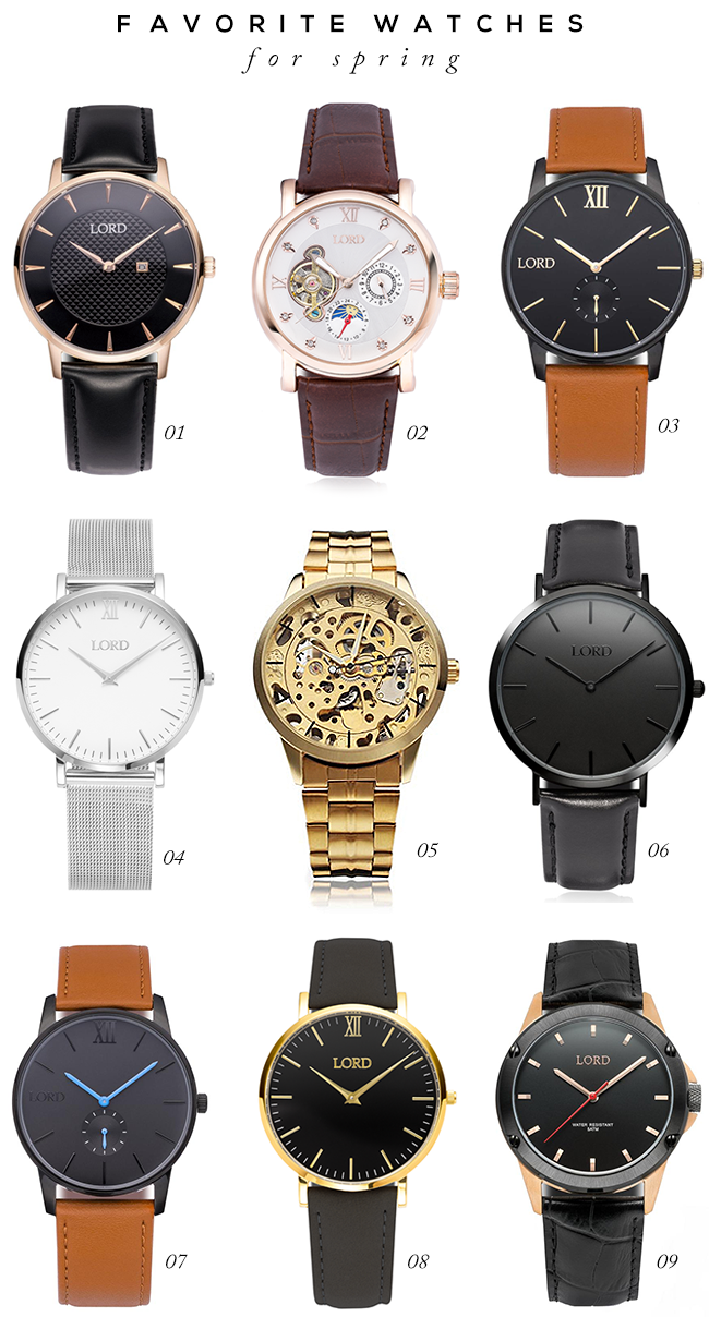 9 Stylish Watches for Spring (via Bubby and Bean)
