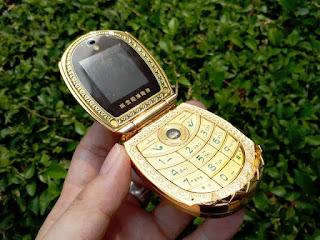 Hape Mewah Mafam U1 Metal Flip Lotus Flower Luxury Phone