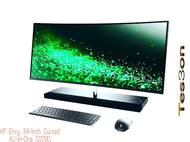 """أفضل كمبيوتر لتصميم الجرافيك """"HP Envy 34-inch Curved All-in-One (2018)"""""""