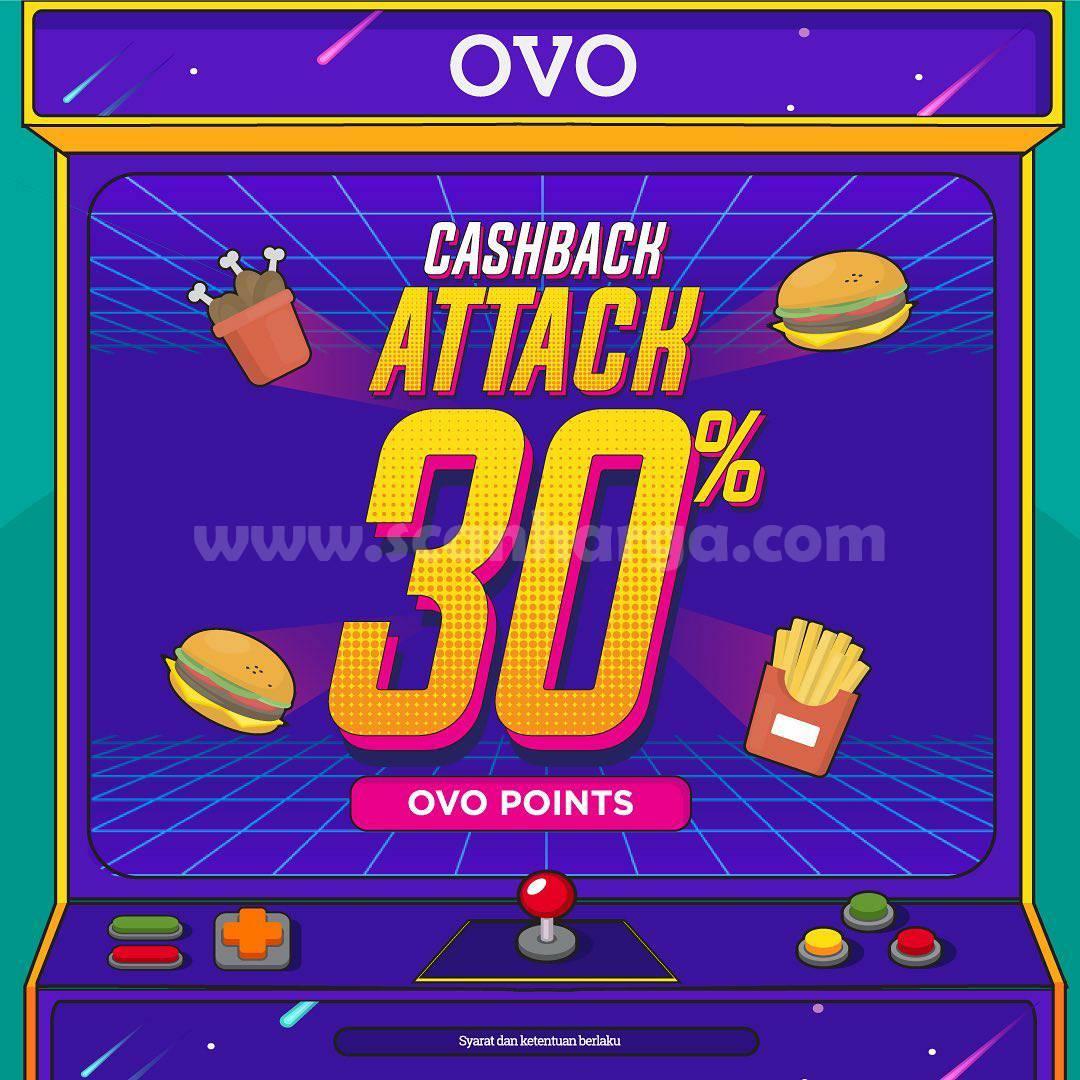BURGER KING Promo Cashback Attack 30% Transaksi dengan OVO