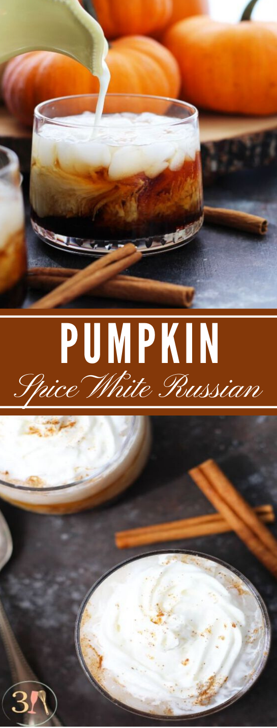 PUMPKIN SPICE WHITE RUSSIAN #healthydrink #russian #sangria #cocktail #recipes