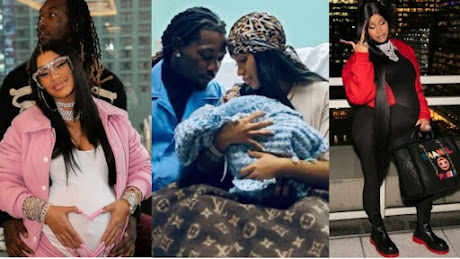 Rapper, Cardi B And Her Husband, Offset Welcome 2nd Child (Photos)