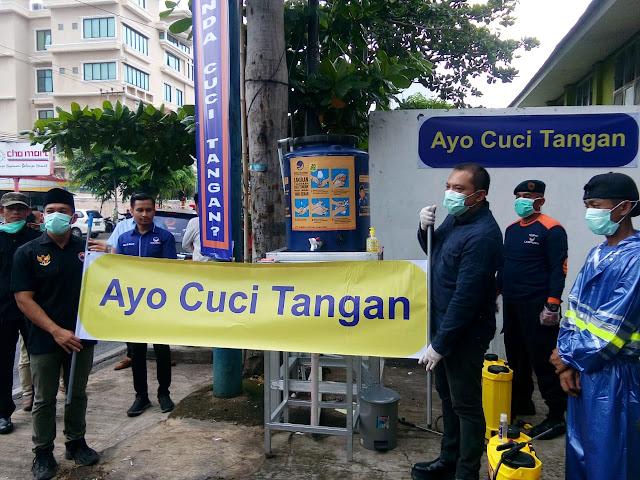 Demi pencegahan virus corona, DPW Partai Nasdem Peduli masyarakat Lampung