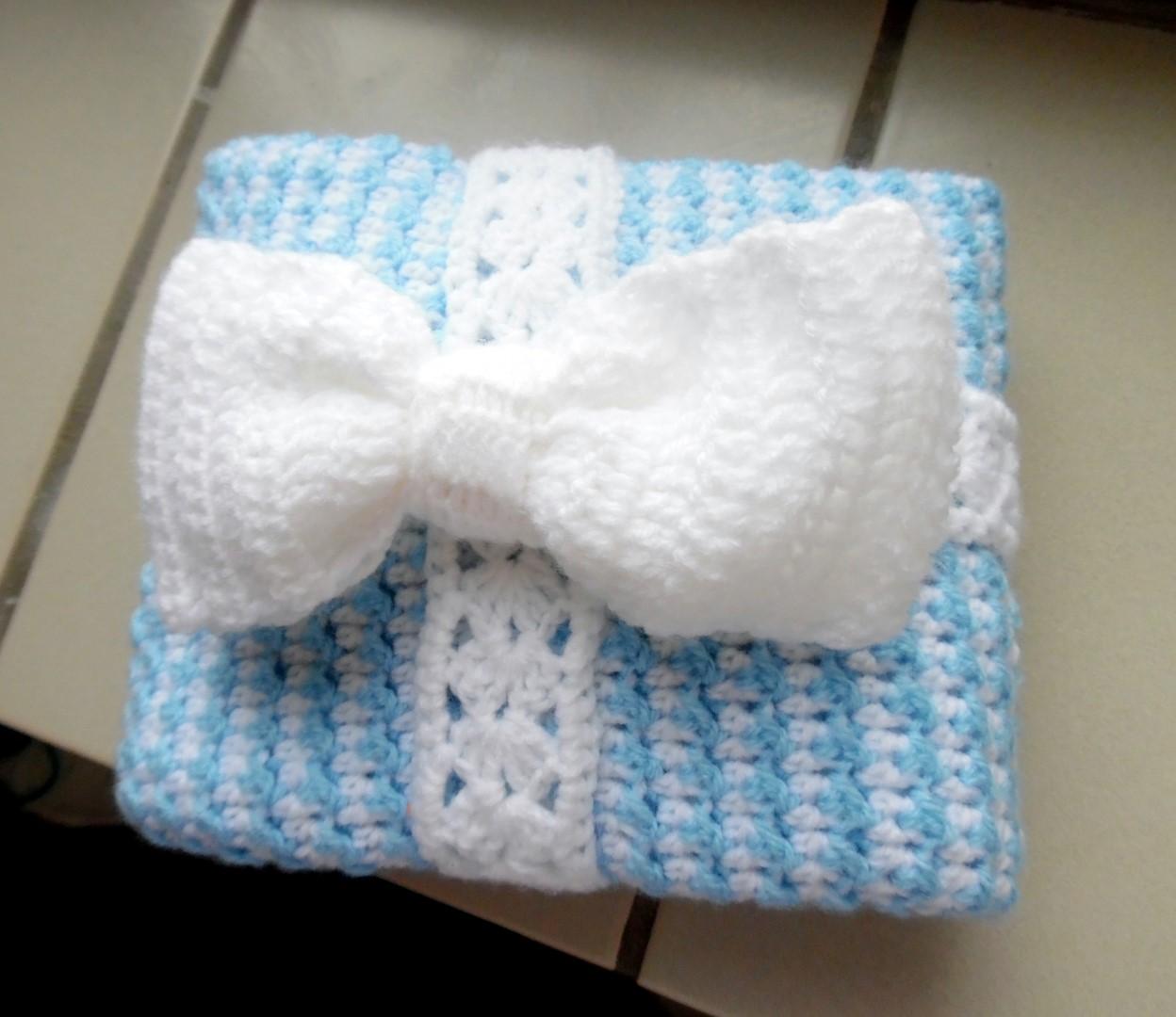 AmVaBe Crochet: Baby Boy Blanket!