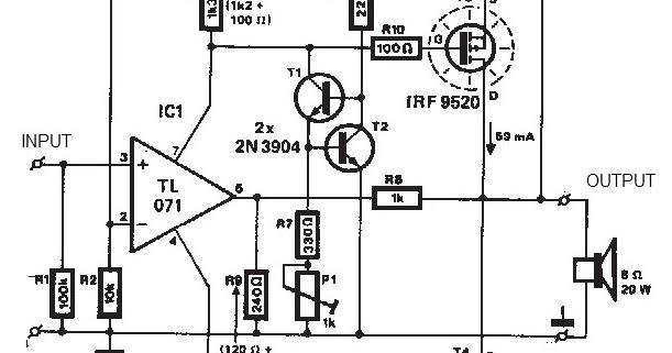 tda1308 audio headphone amplifier circuit diagram