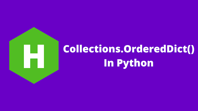 HackerRank Collections.OrderedDict() in python problem solution