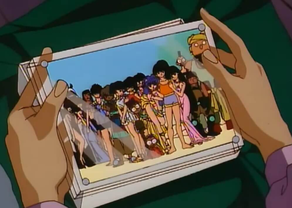 ranma's gift to akane, a plastic frame with a picture of the whole gang