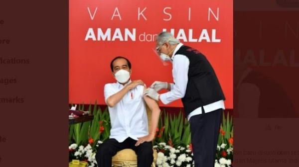 Vaksin Utuh saat Disuntik ke Jokowi, Ini Jawaban Ketua PB IDI