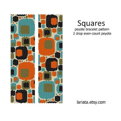 peyote bracelet pattern - squares