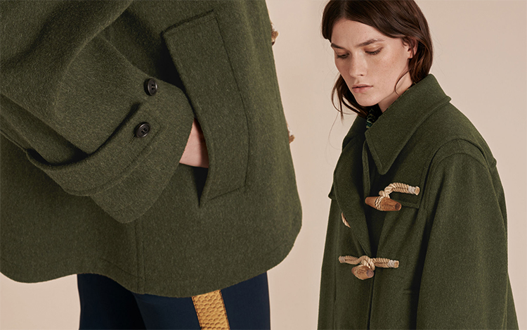 burberry sale outlet online a1ey  Military Wool Duffle Coat
