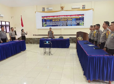 Polres Minsel Gelar Latpra Ops Ketupat Samrat 2019