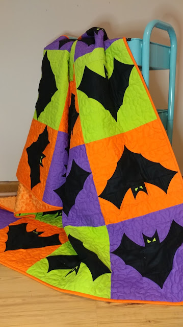Going Batty! - A finished quilt!