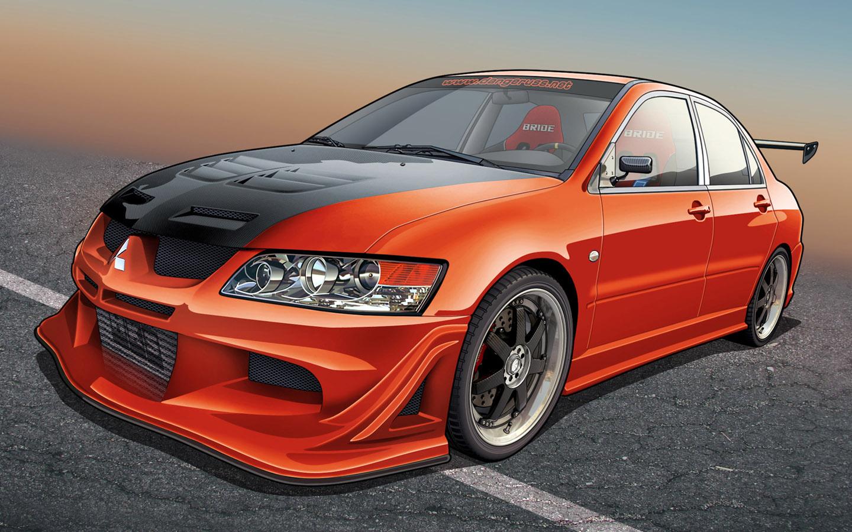Modified Sports Car Wallpaper Auto Cars Mitsubishi
