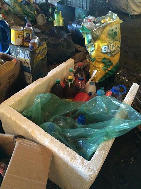 Lixo reciclável separado