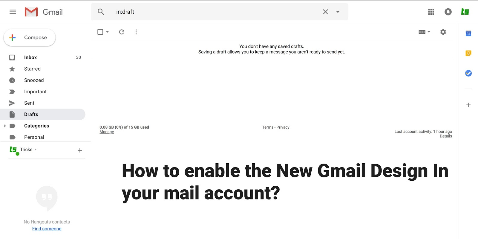 How to enable the New Gmail Design In your mail account?