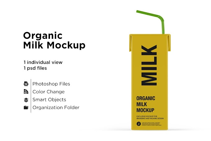 Organic Milk Mockup 5436758