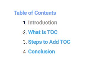 How to Create Table of Contents in Blogger without Editing Theme HTML