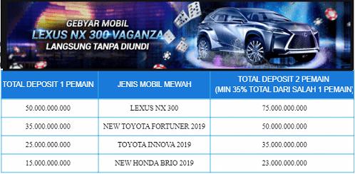 Free Mobil Lexus NX 300 Vaganza