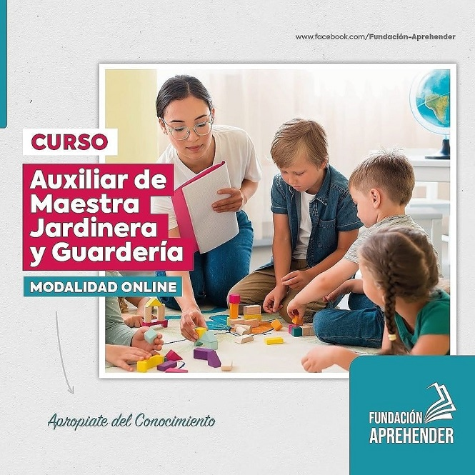 Dictan cursos online para Auxiliar de Maestra Jardinera y Guardería