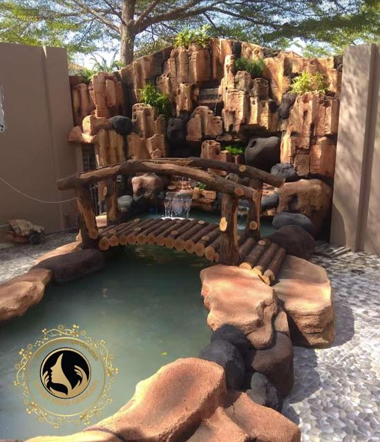 Design kolam tebing