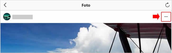 Acessando as opções da foto no Instagram para exclui-lá