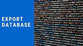 Export Database mysql meggunakan CLI