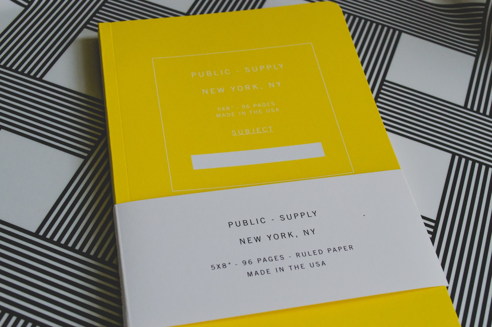 Public-Supply Yellow Ruled Notebook Conscious Commerce